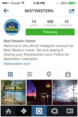 Best Western Instagram
