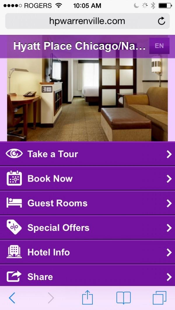 Hyatt Place Mobile App