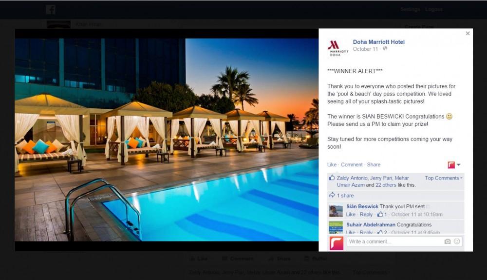 Doha Marriott Facebook