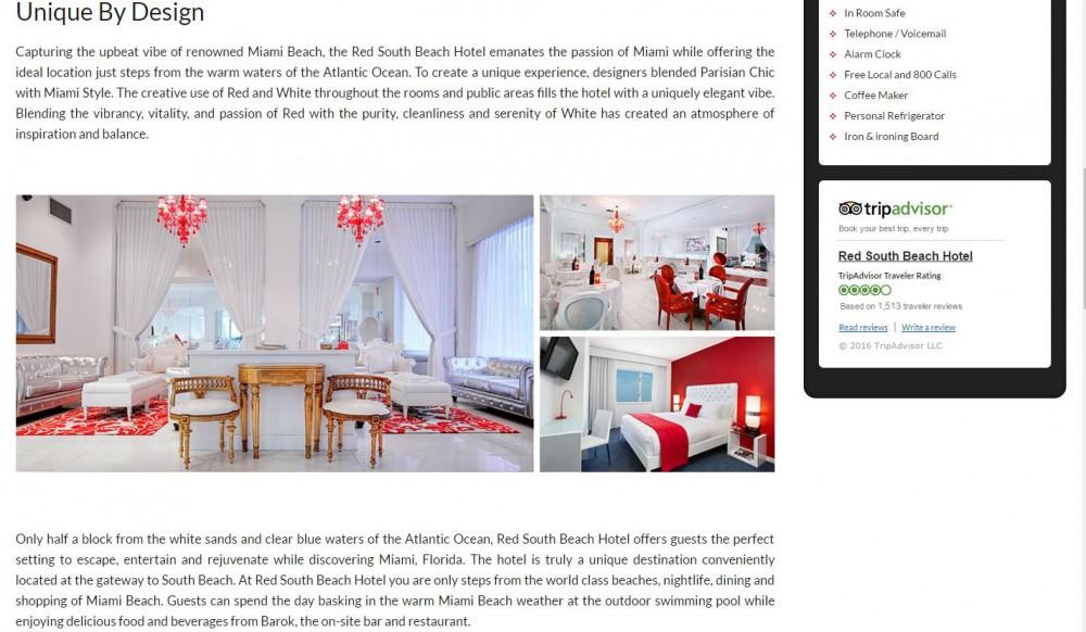 Vizlly hotel website