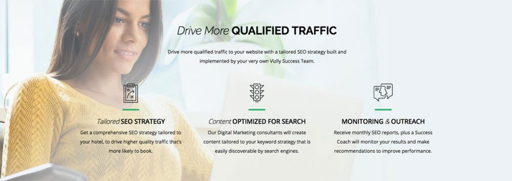 Vizlly helps Drive More Qualified Traffic to your Website