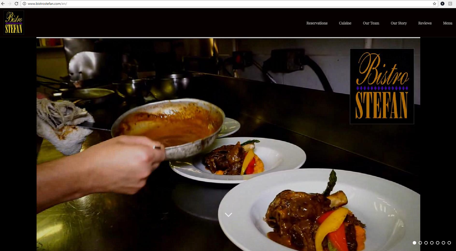 Bistro Stefan Restaurant Homepage