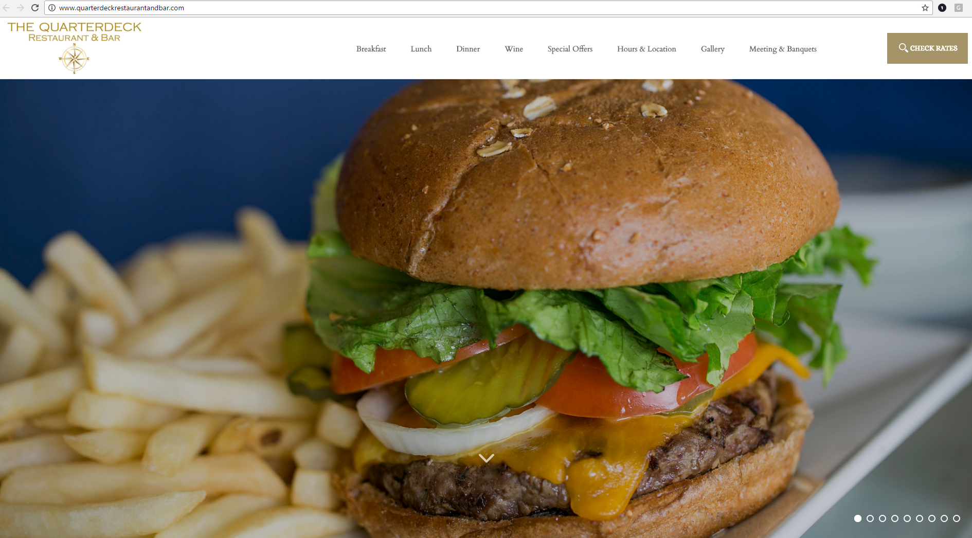 Quarterdeck Restaurant Website