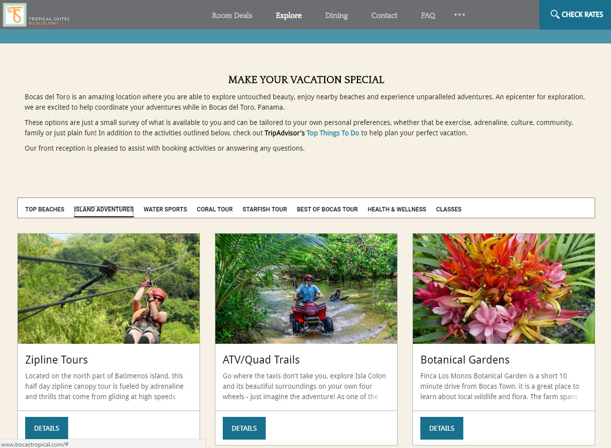 Content Marketing by the Tropical Suites Hotel