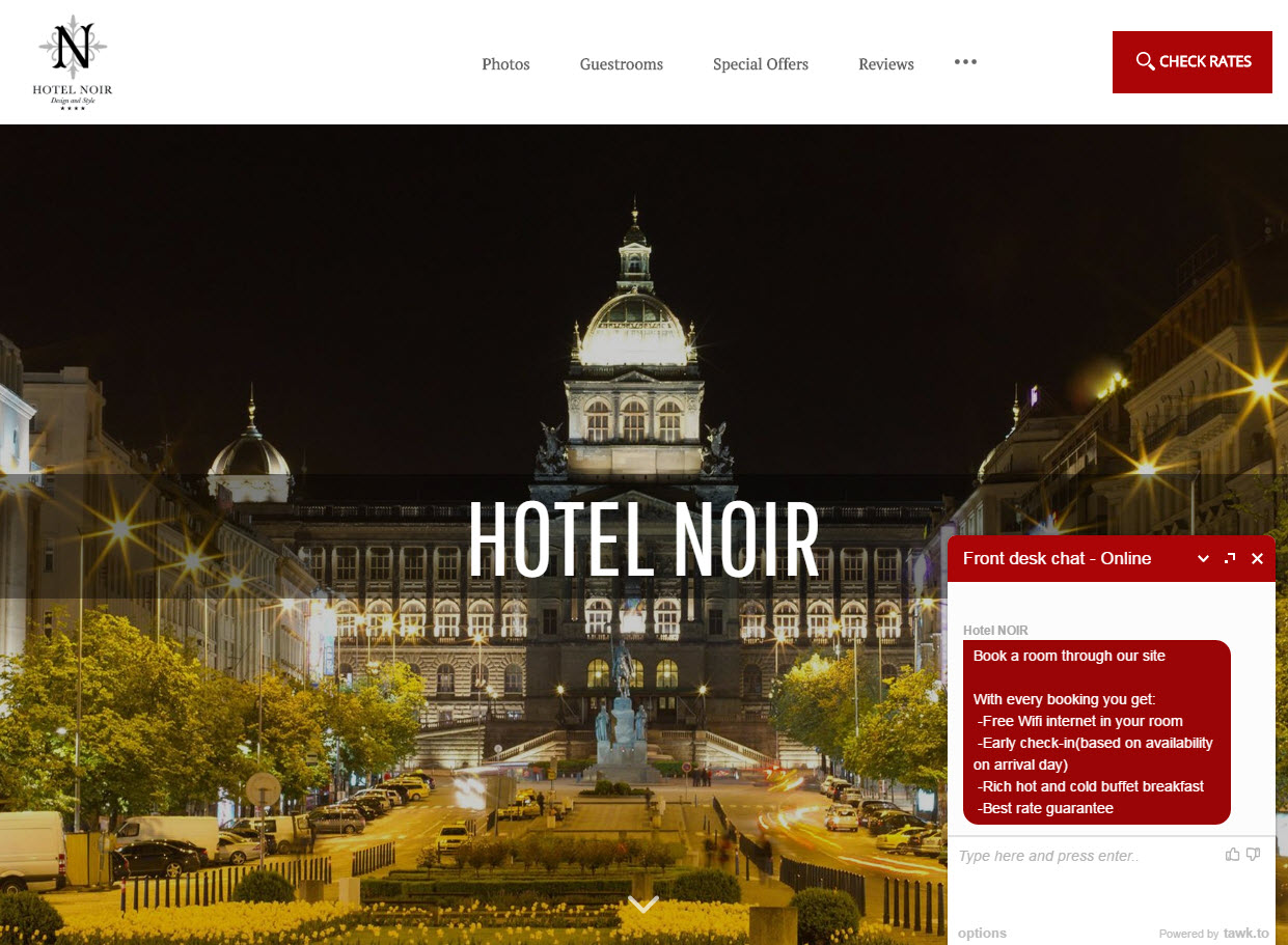 Chatbot Alternative: Instant Messaging Used By Hotel Noir