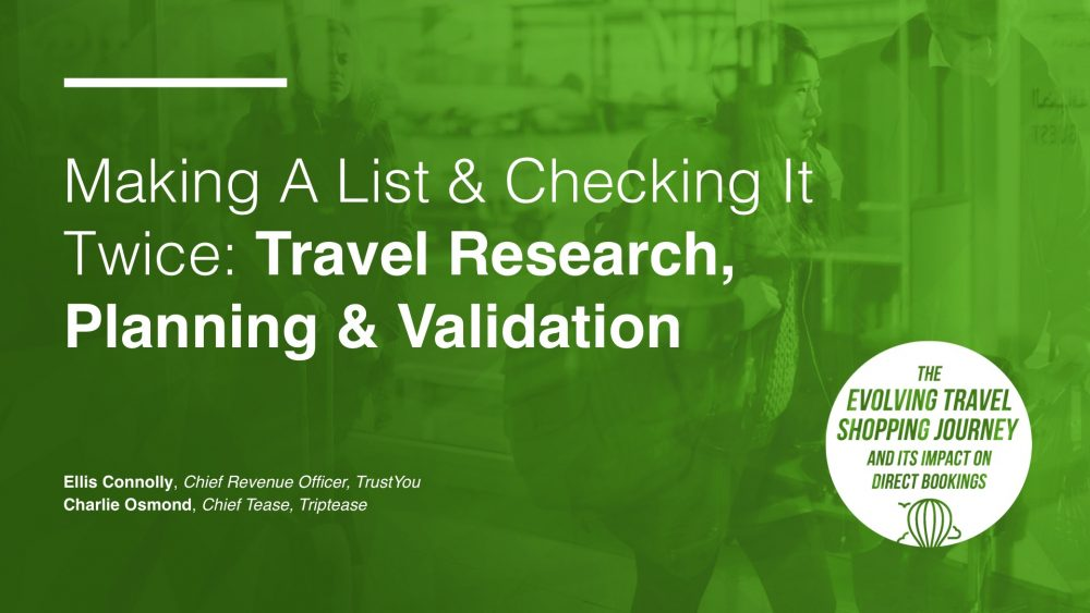 Digital Marketing Summit: Travel Research, Planning & Validation Intro