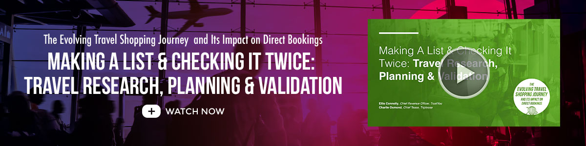 Travel Research, Planning & Validation: Watch the Online Summit