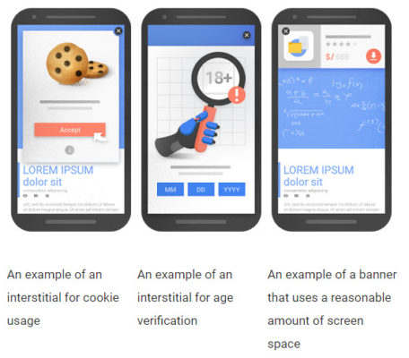 Examples of mobile sites unaffected by the mobile-first index
