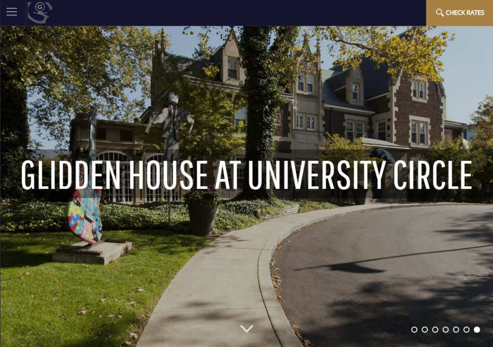 Science behind a high-performing hotel website example Glidden House