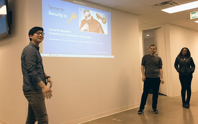 Leonardo Hackathon Winning Team